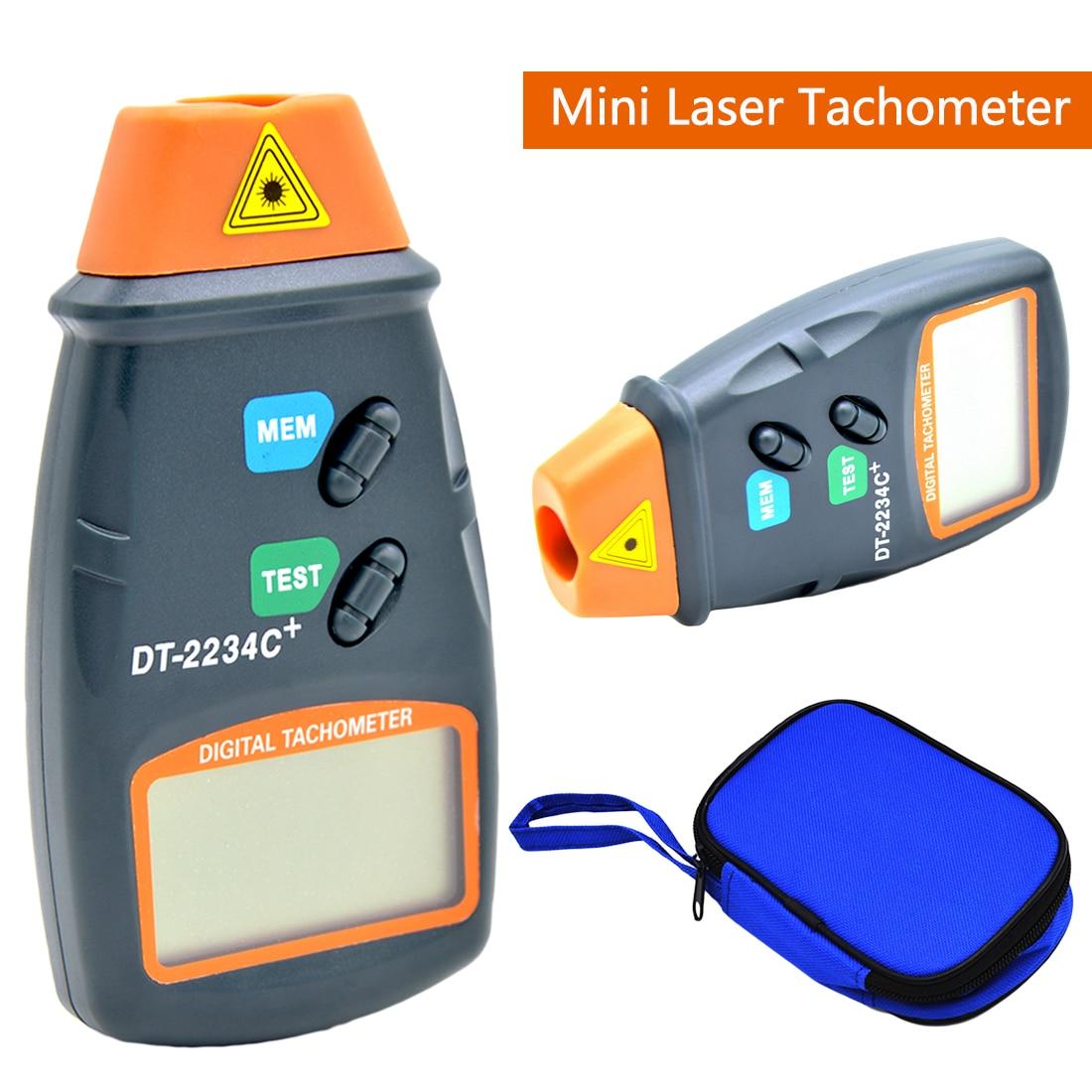 2.5RPM -99,999RPM Non Contact Tach Tool Handheld Digital Laser Photo Tachometer Tester RPM Motors DC 9V