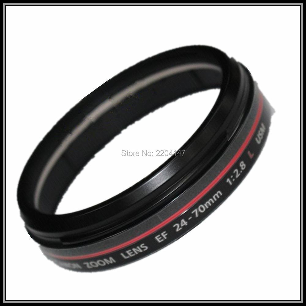 SLR عدسة إصلاح أجزاء ل كانون EF 24-70 مللي متر f/2.8L الأحمر حلقة الأحمر دائرة أنبوب الأحمر دائرة قذيفة هود عدسة برميل استبدال أجزاء