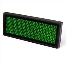 LED vert nom badge signe défilement publicitaire avec programmation USB * fenêtre 8 Compatible