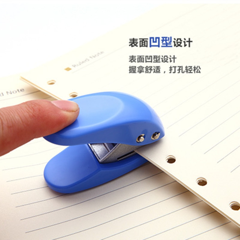 Perforadora de papel perforadora de tamaño pequeño perforadora de papel de 6mm envío
