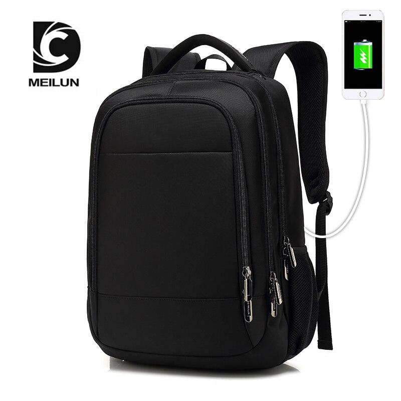 Classiche da uomo e vecchia scuola casua e moda backbag uso di carica spina del trasduttore auricolare indietro borsa