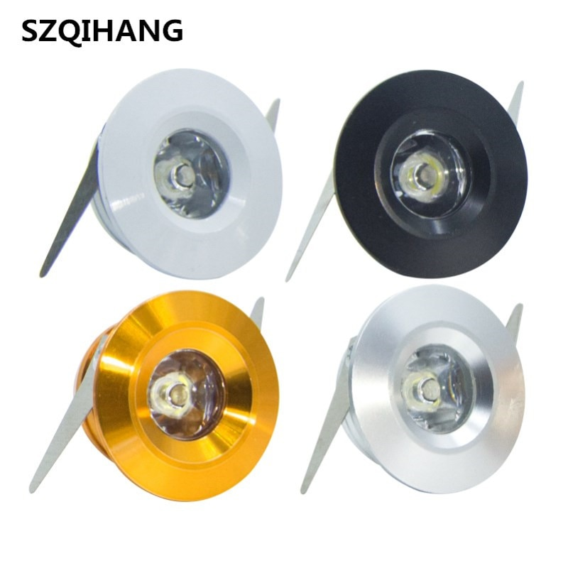 3w led mini downlight 25d 30mm cutput ceiling spotlight ac85 277v input dimming diy cabinet recessed lighting 9pcs set Mini 3W Dimmable Led Cabinet Lamps Recessed Led downlight AC85-265V Spot light lamp include led driver
