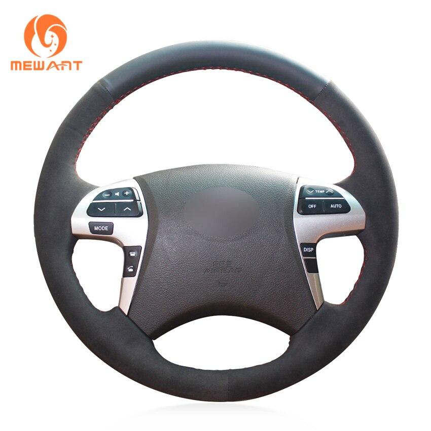 Simplemente lee negro de gamuza de cuero protector para volante de coche para Toyota Highlander Camry Isis Mark X Zio Premio Noah (Corolla)