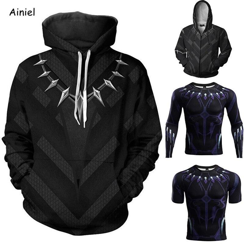 Disfraz de Cosplay de pantera negra de película, chaqueta, suéter, camiseta, abrigo informal con capucha, moda de otoño para mujer, disfraz de hombre para Halloween