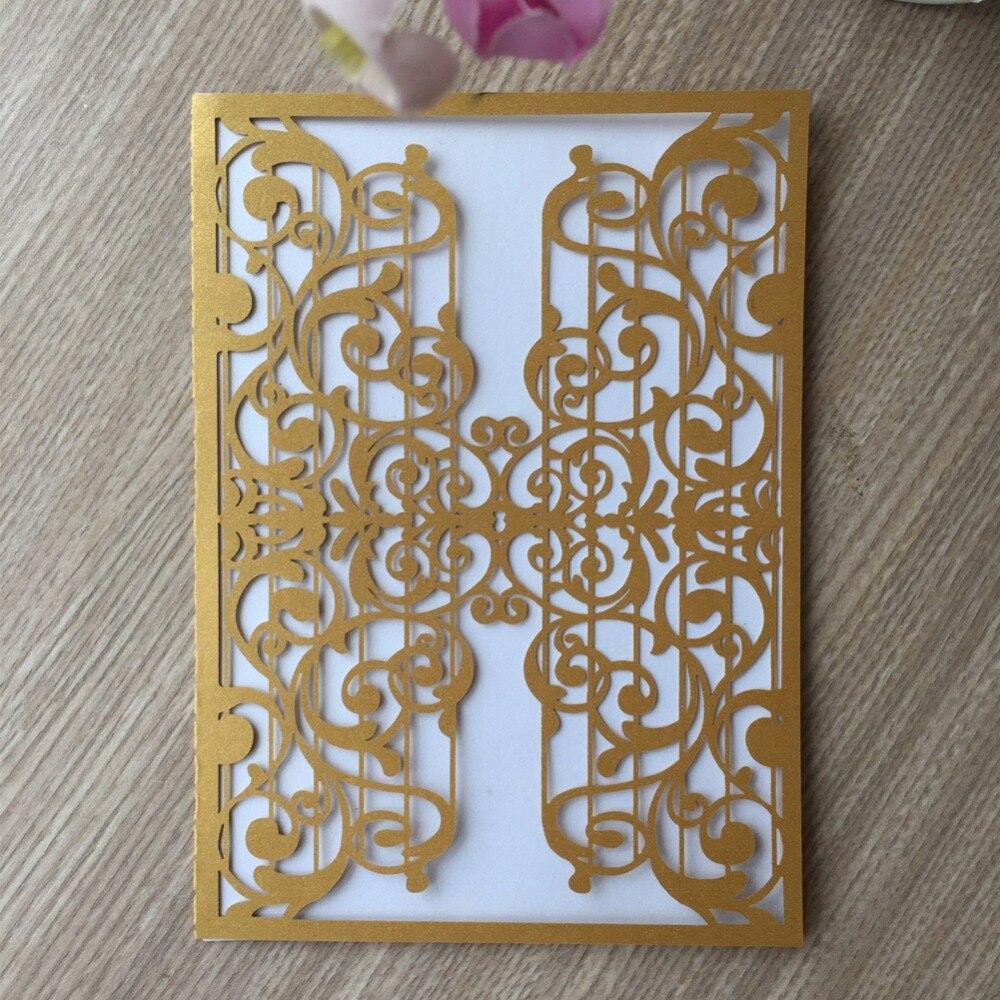 30 pçs/lote Europen Estilo Notação Musical Laser Cut Pérola Papel Cartão Do Convite Do Casamento Cartões De Casamento Cartões de Convite de Concerto