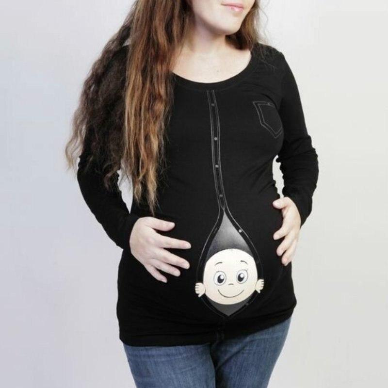 Camisa de manga larga para mujer, camisas rojas, negras y blancas, camisetas de maternidad para embarazadas, camisetas divertidas para niños, camisetas gráficas para mujeres co1