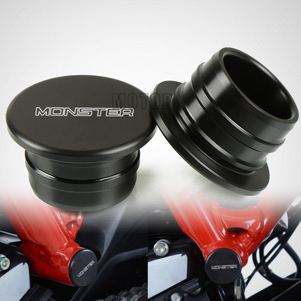 Para Ducati MONSTER 797 2017-2018 2 uds accesorios de la motocicleta de Nylon basculante agujero tapones tapa Swing brazo tapón de montura de protección