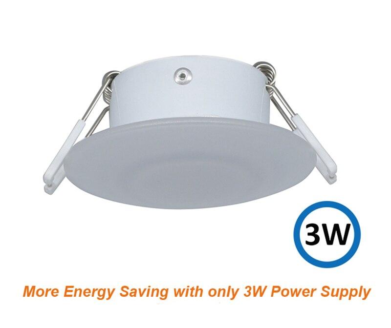 3W LED Ceiling Dome Light Plastic White Caravan Lamp for 12V Marine Boat Motorhome Accessories