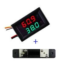 RD dual Led-anzeige 0,28 DC0-100V/50A autospannungsstrommesser Digital-amperemeter voltmeter 5 draht mit shunt