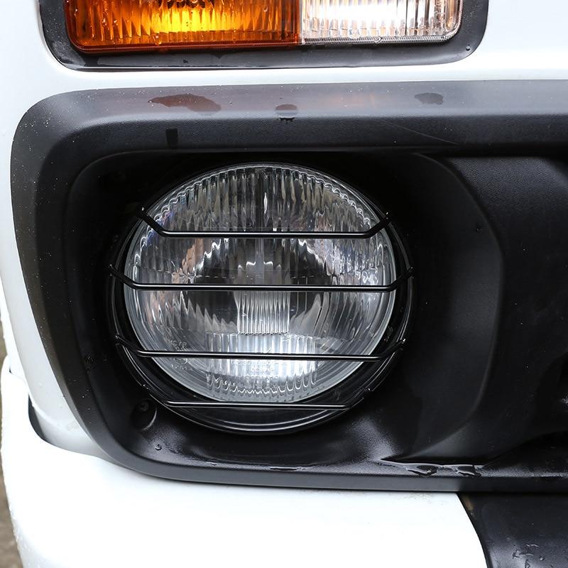 2pcs Metal Front Headlights Protector Frame Trim For LADA NIVA