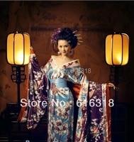 classical exotic japanese kimono womens sexy costume photography clothing set dress belt without kimono backpack