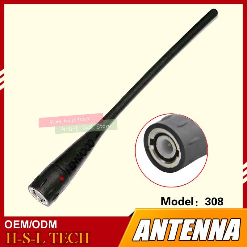 Портативная рация, резиновая антенна 400-470 МГц, интерфейс BNC, двухсторонняя радиоантенна для Kenwood, TK-308, Marantz, C450