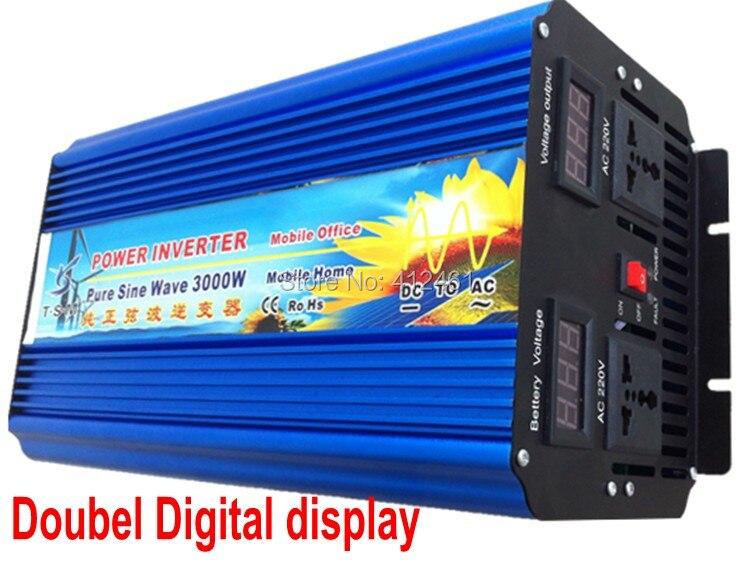 Inversor de onda senoidal pura 3KW 3000W onda sinusoidal pura fuera de la red monofásica pico potencia 6000W