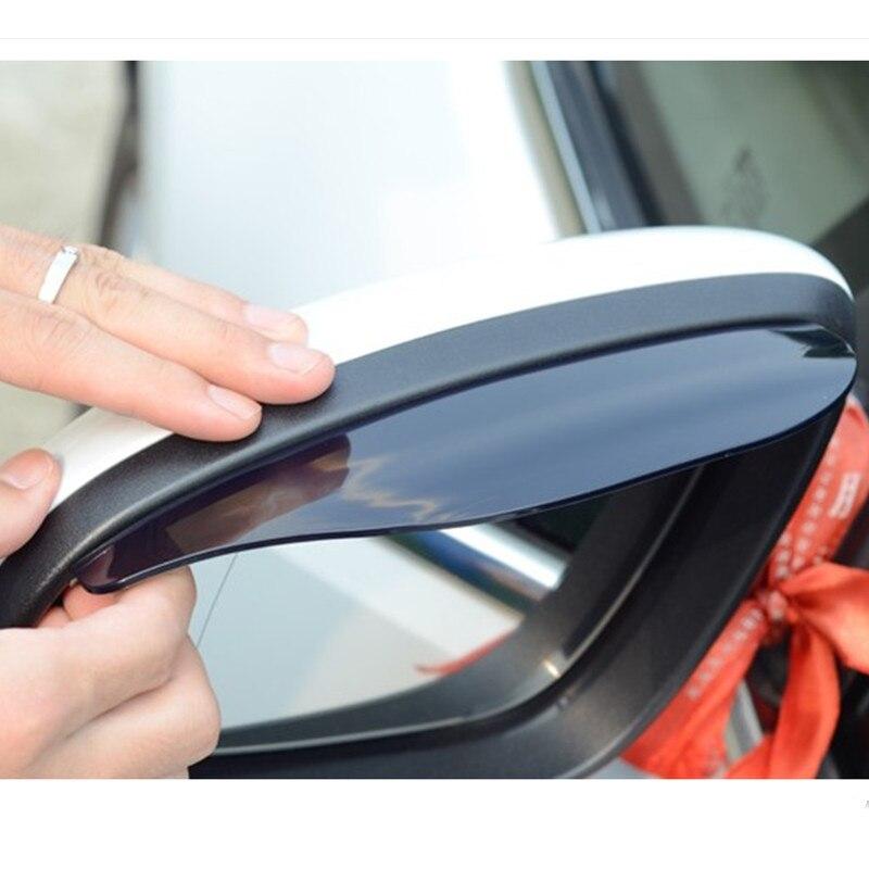 Car styling rearview mirror rain eyebrow stickers FOR Skoda Octavia 2 A7 A5 Rapid Fabia Superb Yeti Mazda Honda accessories