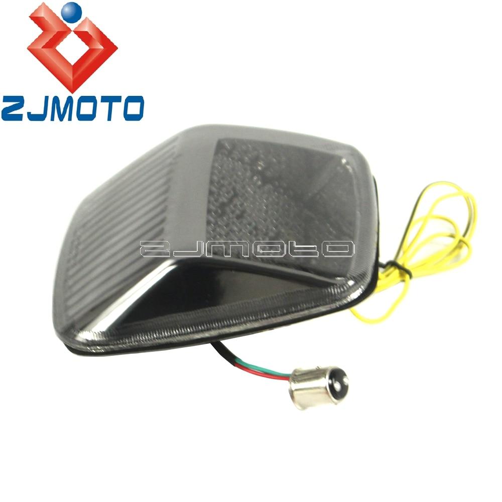 Motocicleta integrado sinais de volta luz traseira led luz da cauda freio parar luz para harley deuce todos os anos V-ROD 2002-2011