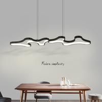 Minimalism Black/White Modern Led Pendant Chandelier For Dining Kitchen Room Bar Living Room Deco Chandelier Fixture