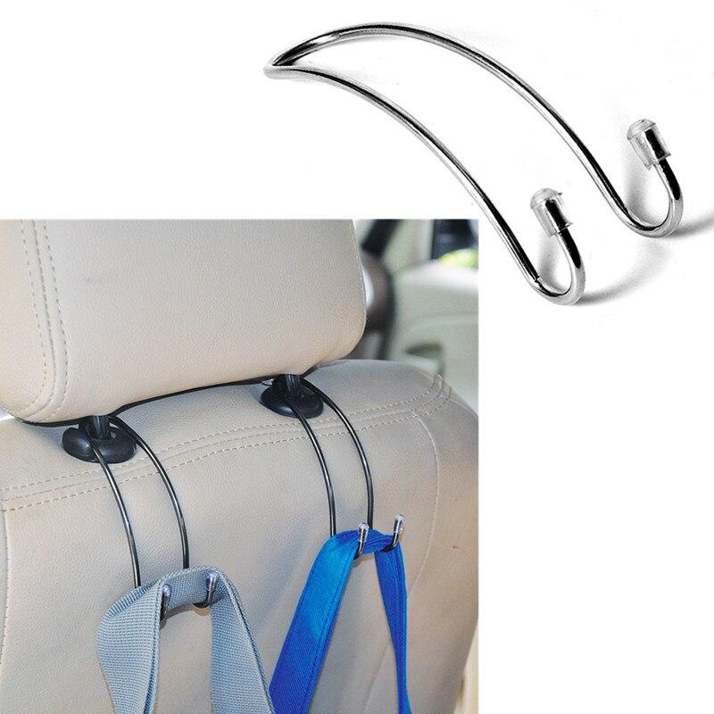 Clips de Metal gancho de asiento de coche Auto reposacabezas percha bolsa titular de fijación para Skoda Audi BMW VW Opel Lada Renault Kia