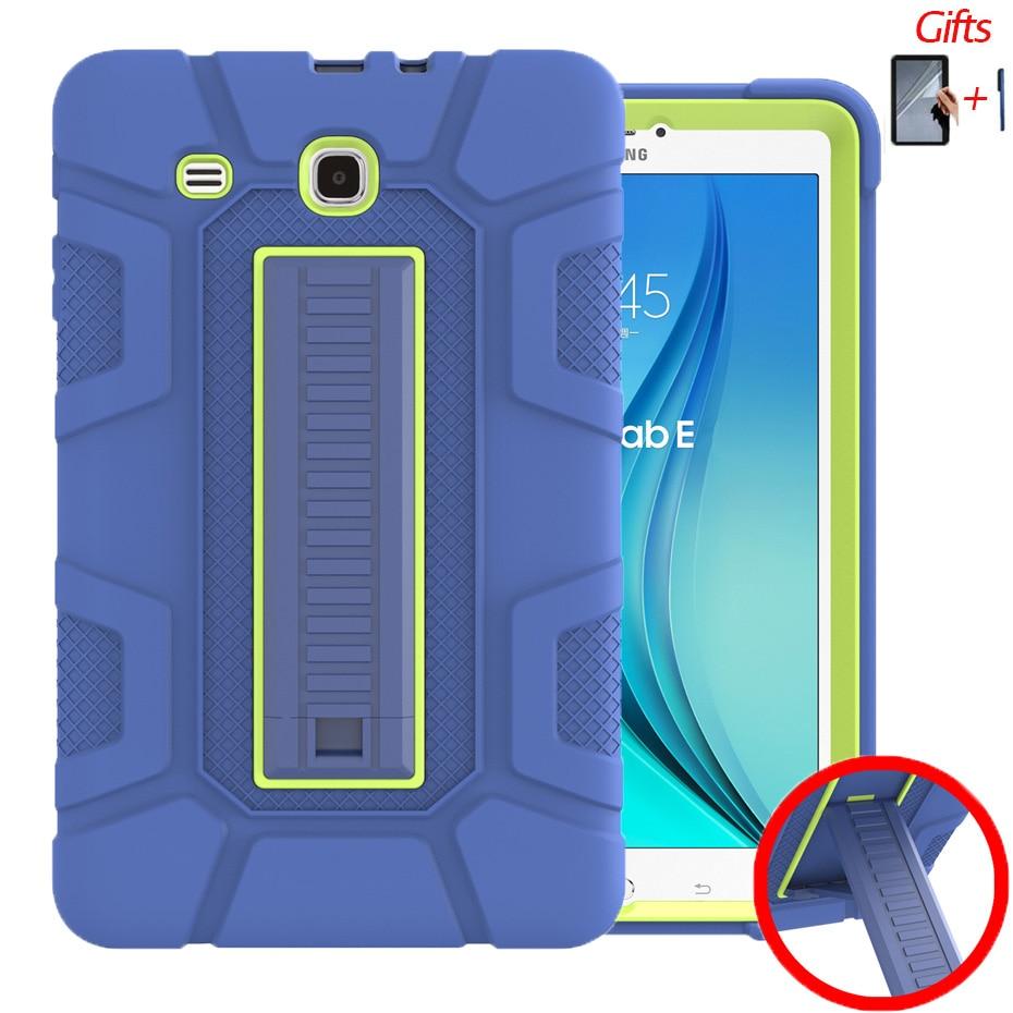 Чехол с защитой от падения для Samsung Galaxy Tab E 9,6 T560/T561/T565/T567V чехол-подставка для Samsung Tab E 9,6 дюймов чехол для планшета + пленка