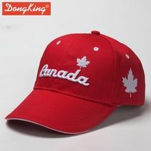 DongKing Canada-casquette de Baseball en coton   Casquette cousue, Sandwich courbée, casquette avec broderie 3D, cadeau pour hommes et femmes
