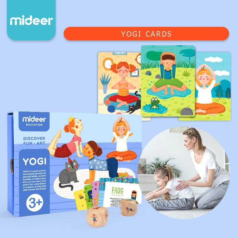Juego de Yoga familiar Mideer, tarjetas de Yogi cognitivas para bebé, juego de iluminación interactivo para padres e hijos, juguetes de cartas