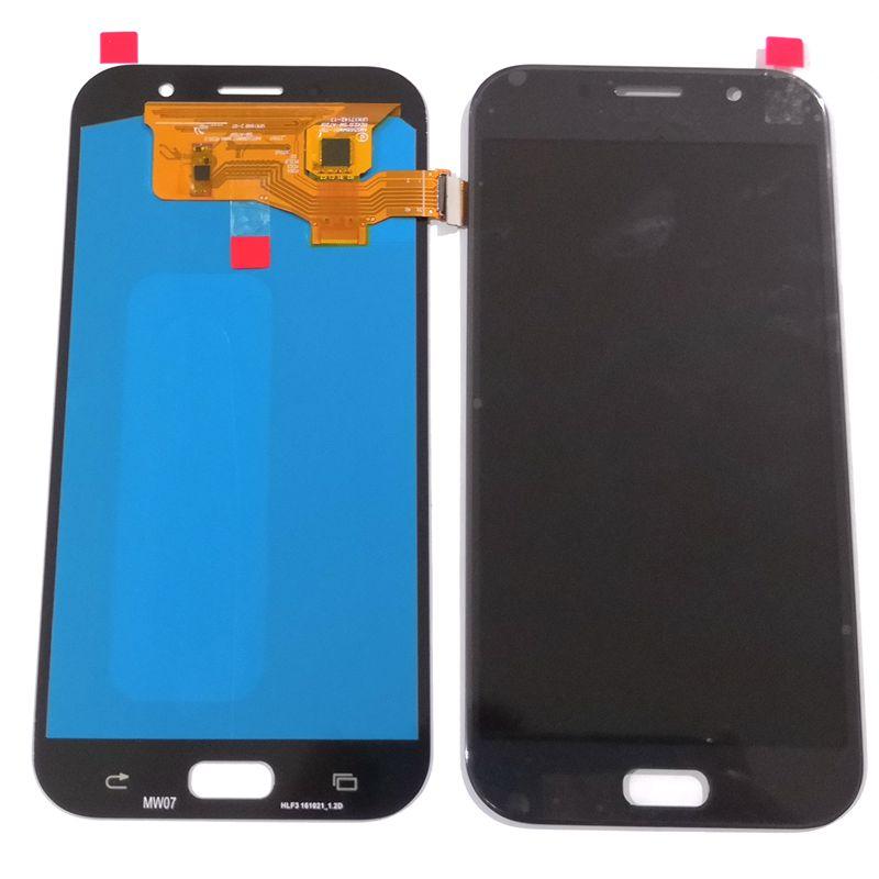 2017 для samsung Galaxy A7 A720 A720F SM-a720F ЖК-дисплей с сенсорным стеклом дигитайзер сборка Amoled версия