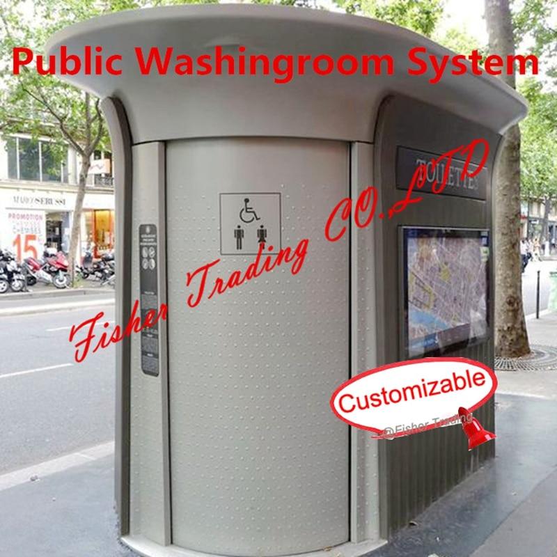 Общественная стиральная комната/туалет/Туалет система, мобильная/Портативная Туалет система, автоматическая монета стиральная комната/ту...