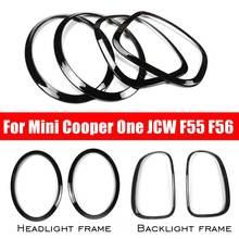 새로운 4 개/대 자동차 헤드 라이트 헤드 테일 리어 램프 림 트림 링 커버 미니 쿠퍼 원 jcw f55 f56 자동차 스타일링 액세서리