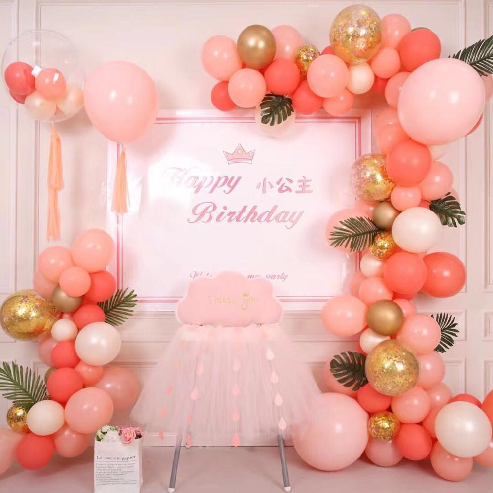 15pcs Coral Red Balloon Apricot Balloon Peach Red Peach Pink  Latex Balloon Celebration Wedding Decorations Happy Birthday Party