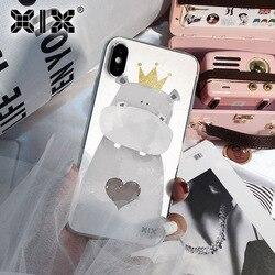 XIX para Funda 11 Pro Caso iPhone 5 5S 6 6S 7 8 Plus X XS Max Hipopótamo Bonito para a Tampa Do iPhone 7 Soft Case TPU para o iphone Caso XR
