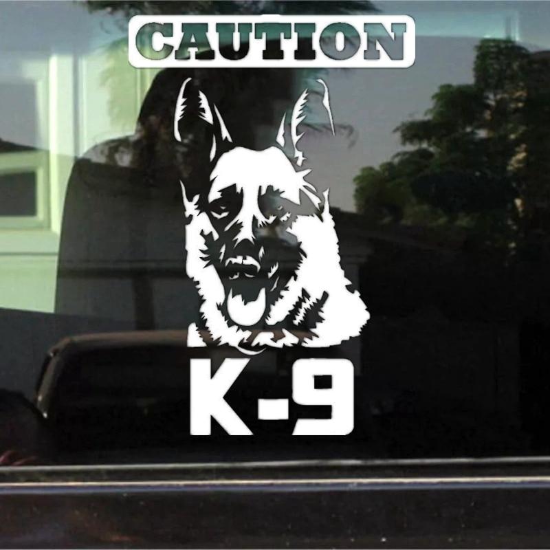 AliExpress - CK2006#15*22cm Caution K9 German Shepherd funny car sticker vinyl decal white/black car auto stickers for car bumper window