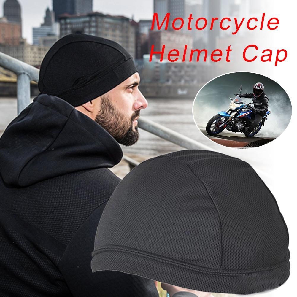 Мотоциклетный шлем, внутренняя Кепка, быстросохнущая Мягкая дышащая шапка, велосипедная гоночная Кепка Под шлем, шапка бини, унисекс, свобо...