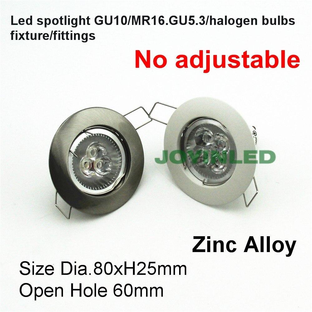Acero cromado MR16 GU5.3 LED spot globe fitting 2 pin halógeno bombilla titular accesorios w enchufes