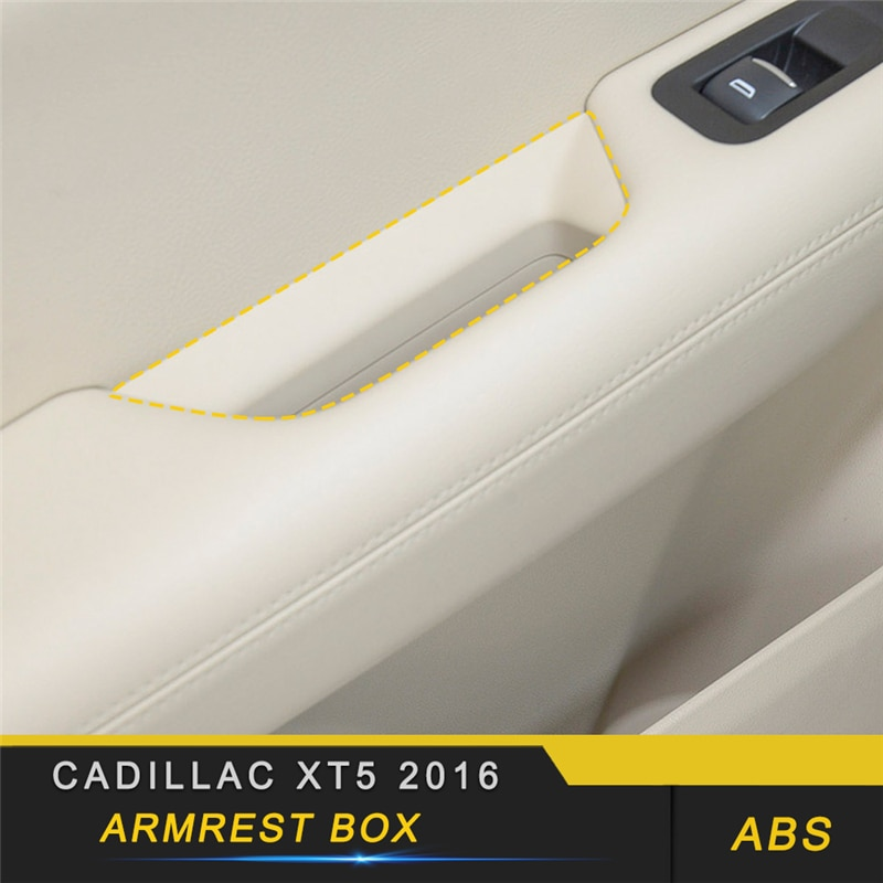 Para Cadillac XT5 2016, decoración de coche, reposabrazos de puerta, caja organizadora, funda, molduras de marcos interiores, accesorios