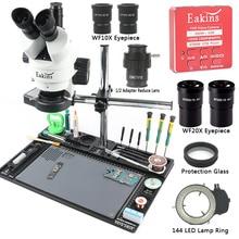 3.5X 7X 45X 90X simul Microscope stéréo trinoculaire focal 37MP HDMI appareil-photo de microscope vidéo établi pour le Reapir de soudure de carte PCB