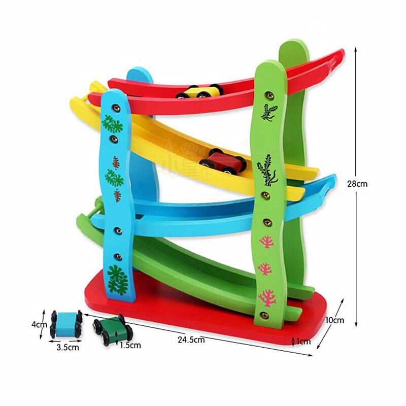 Развивающая игрушка Монтессори, игрушки, деревянные детские скользящие машинки, детские развивающие игрушки, выглядит счастливым слайдом, ...