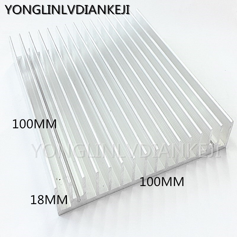 2 PCS de dissipadores de calor de 100*18-100mm de alumínio do dissipador de calor/radiador Eletrônico/