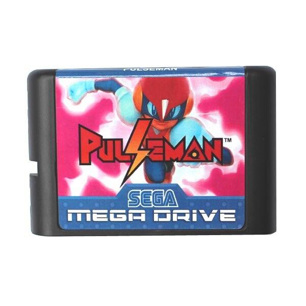 Pulseman-tarjeta de juego MD para Sega Mega Drive, 16 bits, para Genesis
