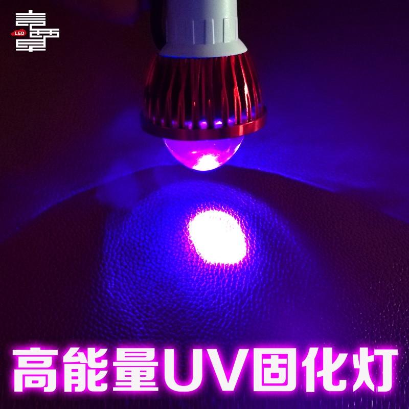 365 longitud de onda UF LED UV lámpara de curado con pegamento luz USB luces ultravioleta verde aceite púrpura luz para manicura para barniz de gel