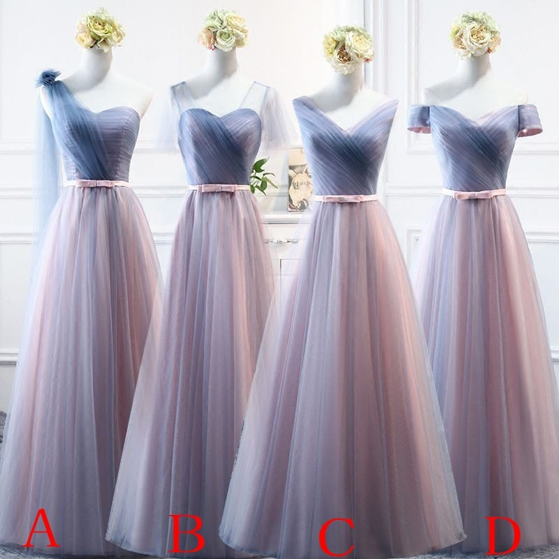 beauty emily a line lace red bridesmaid dresses 2019 long for women wedding party prom women dresses Beauty Emily Pink Blue Long Bridesmaid Dresses 2021 A-Line Sleeveless Off the Shoulder Homecoming Wedding Party Dresses