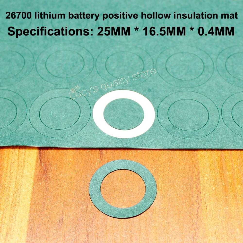 50 unids/lote 26700 baterías de litio almohadillas de aislamiento hueco positivo mbesial Bar 26650 juntas huecas accesorios de batería
