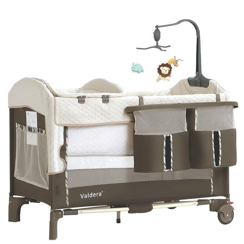 Cuna plegable multifuncional portátil Valdera, sustitución de cama mecedora para recién nacidos