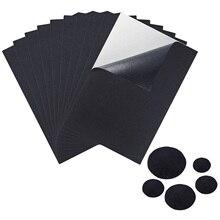Feuilles arrière feutrés autocollantes A4 10 pièces   Pour meubles, papeterie artisanale boîte à bijoux sacs de maison dornement Costumes noirs
