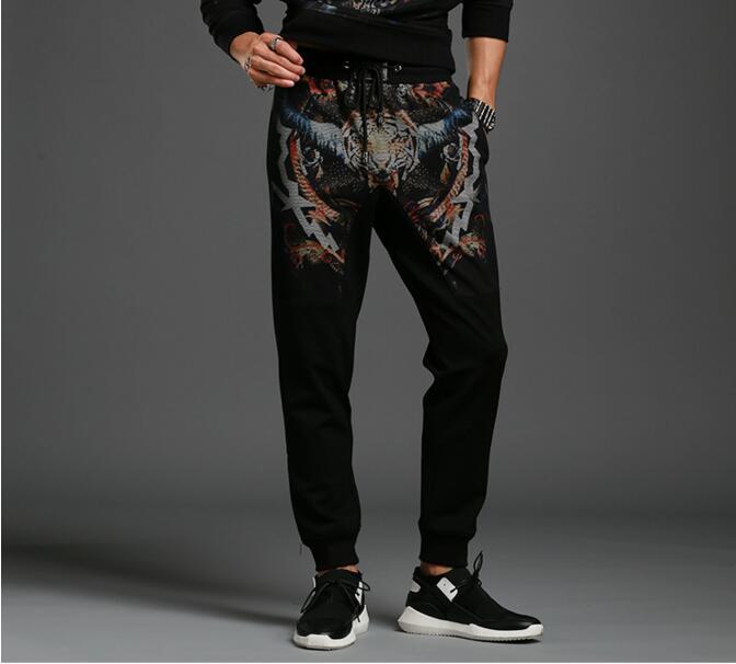 2018 new Men cotton Pants Male Trousers Mens  tiger style  Sweatpants
