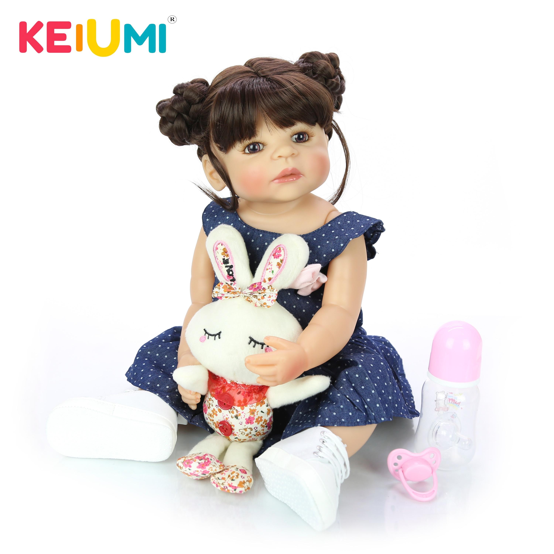 55 cm Full Silicone Body Reborn Girl Lifelike Baby Doll DIY Hair Newborn Princess Toddler Toy Bonecas Waterproof Birthday Gifts