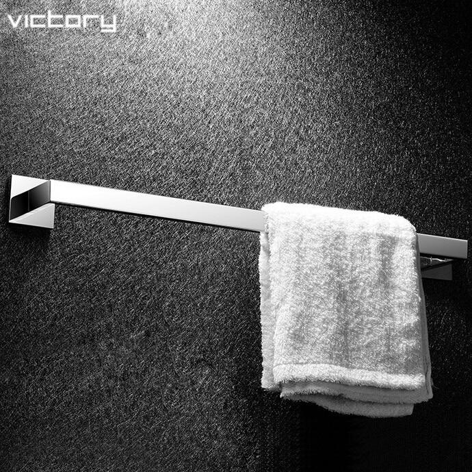 Bathroom Products Solid SUS 304 Chrome (60cm) Single Towel Bar Towel Holder Towel Rack Bathroom accessories