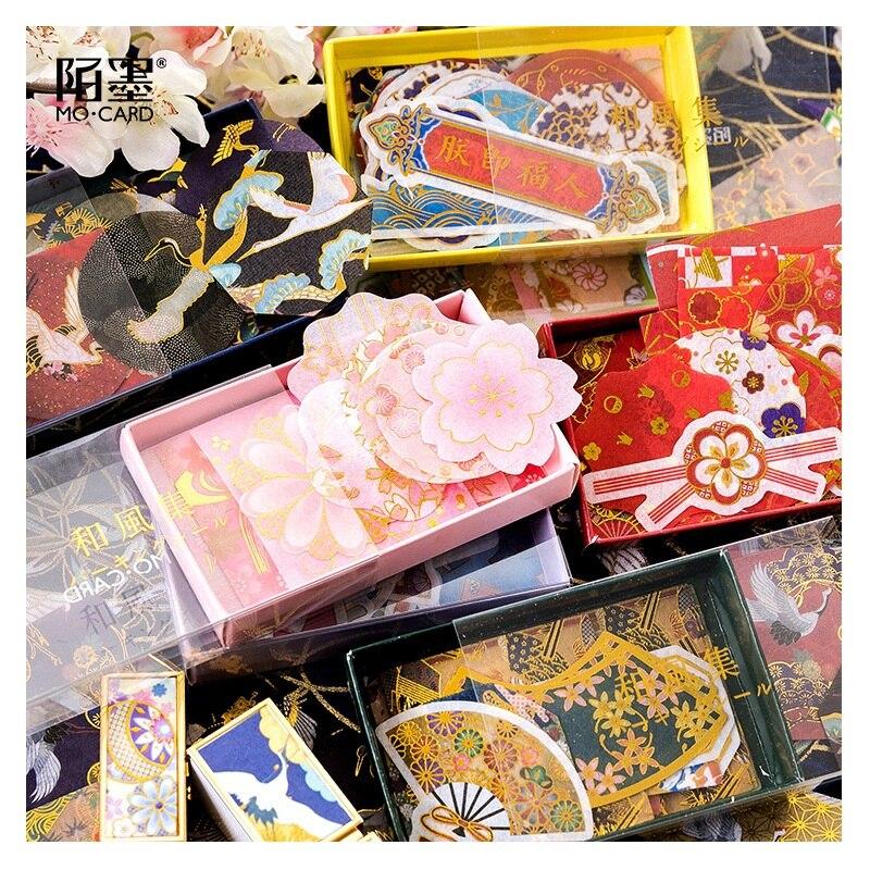 45-pz-set-ronzing-giapponese-antico-serie-di-stile-autoadesivo-scrapbooking-fai-da-te-rossetto-profumo-adesivi