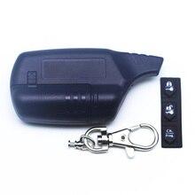 Russia version EZ-Alpha case keychain for Jaguar EZ-Alpha lcd remote two way car alarm system free s