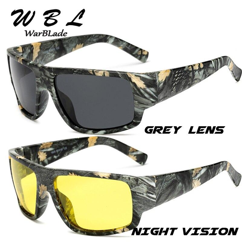 Gafas de sol polarizadas WarBLade 2019 para hombre, gafas de sol deportivas, gafas de sol de marca de diseñador, montura de camuflaje, gafas de gafas