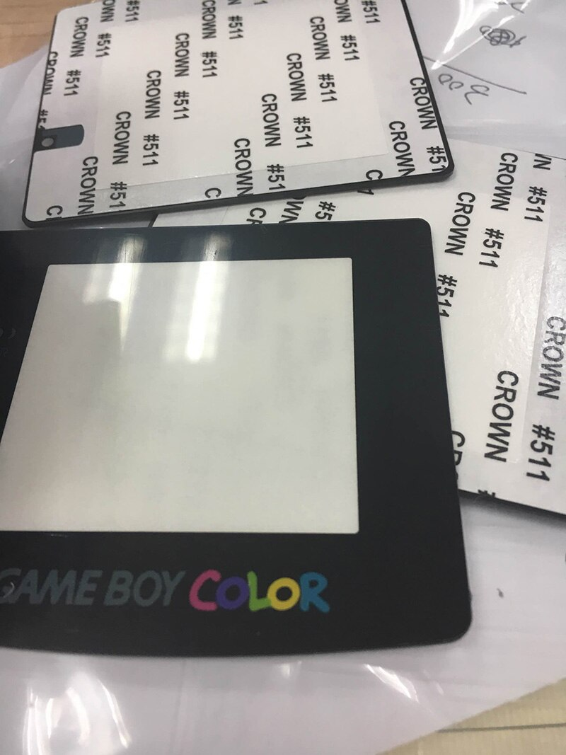 50 шт./лот объектив для экрана Gameboy цвет для GBC замена стекла защита экрана Бесплатная доставка
