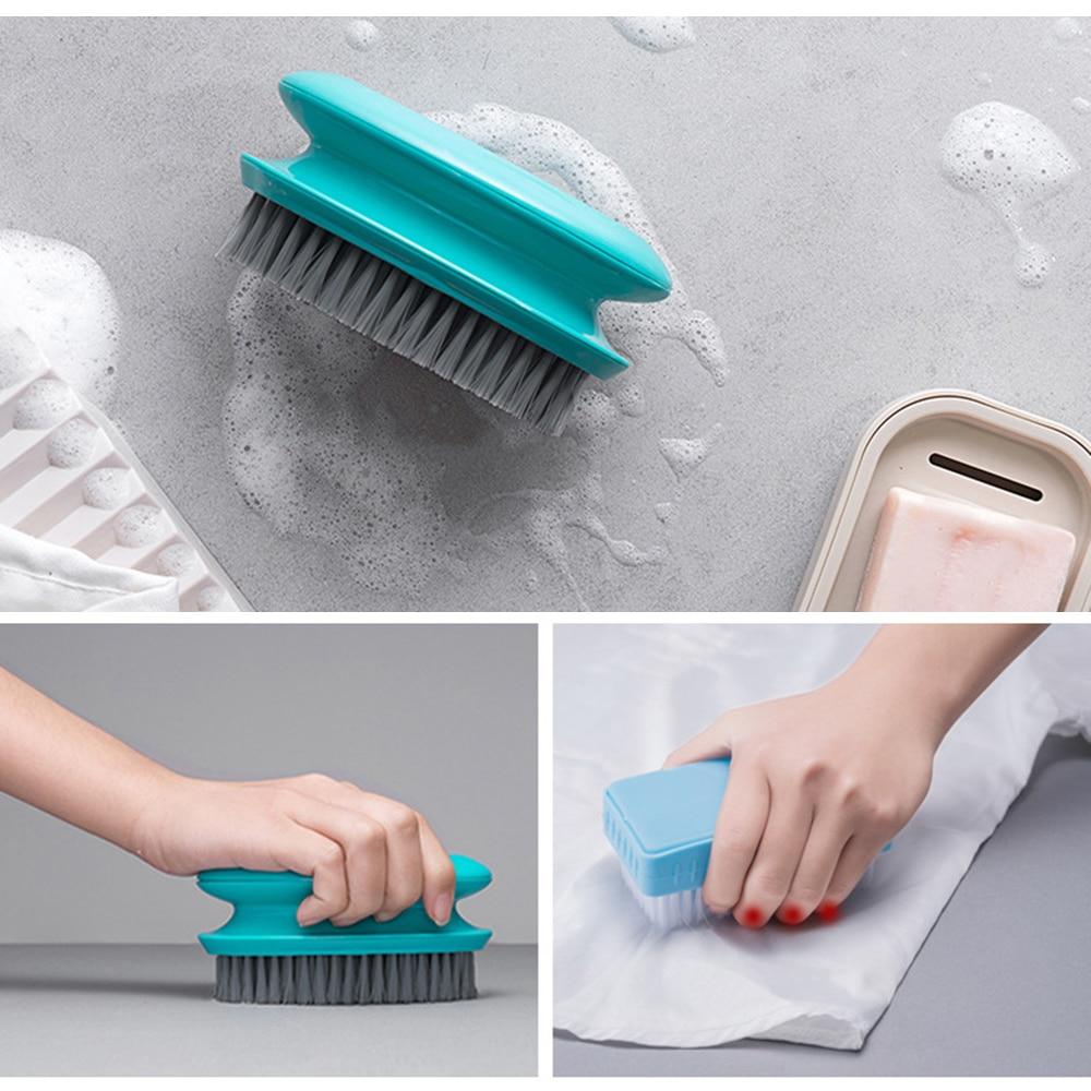 Cepillo para limpieza en el hogar, cepillo de lavandería multifunción para el hogar, cepillo de zapatos, cerdas suaves de plástico, envío directo